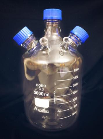 Frascos reagentes em vidro borossilicato