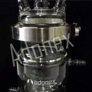 Reator de vidro encamisado