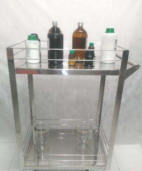 Carrinho em Aço Inox para Reagentes